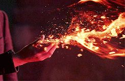 No One really controls fire like this it's more like thermal energy it's ion a higher plane than just elemental manipulation but I suppose of you're doing something small it might look like this