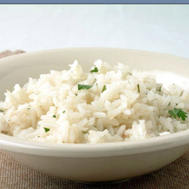 Coconut rice. Perfect pairing for spicy Asian or Jerk chicken.