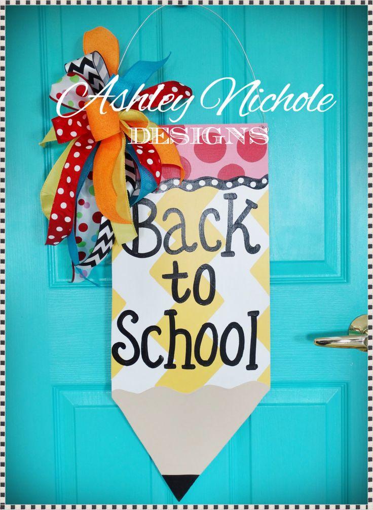 25 unique pencil door hanger ideas on pinterest teacher for Back to school door decoration
