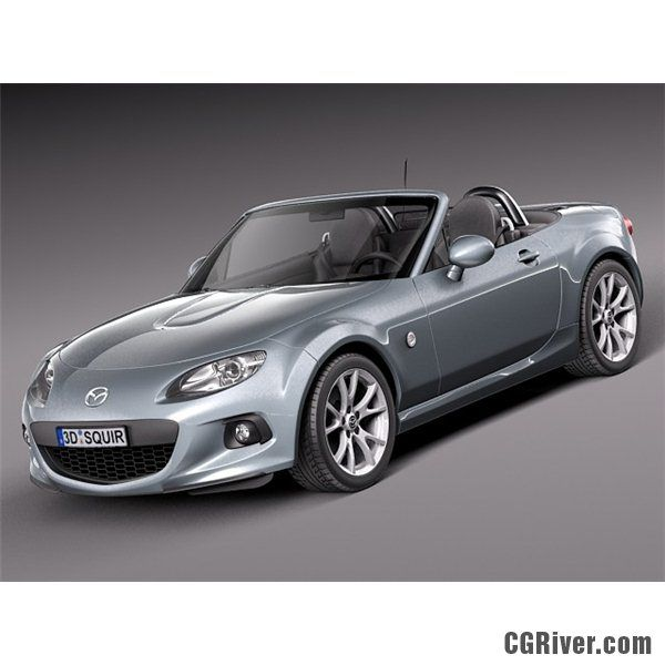 mazda mx 5 2013 3d model high quality 3d models. Black Bedroom Furniture Sets. Home Design Ideas