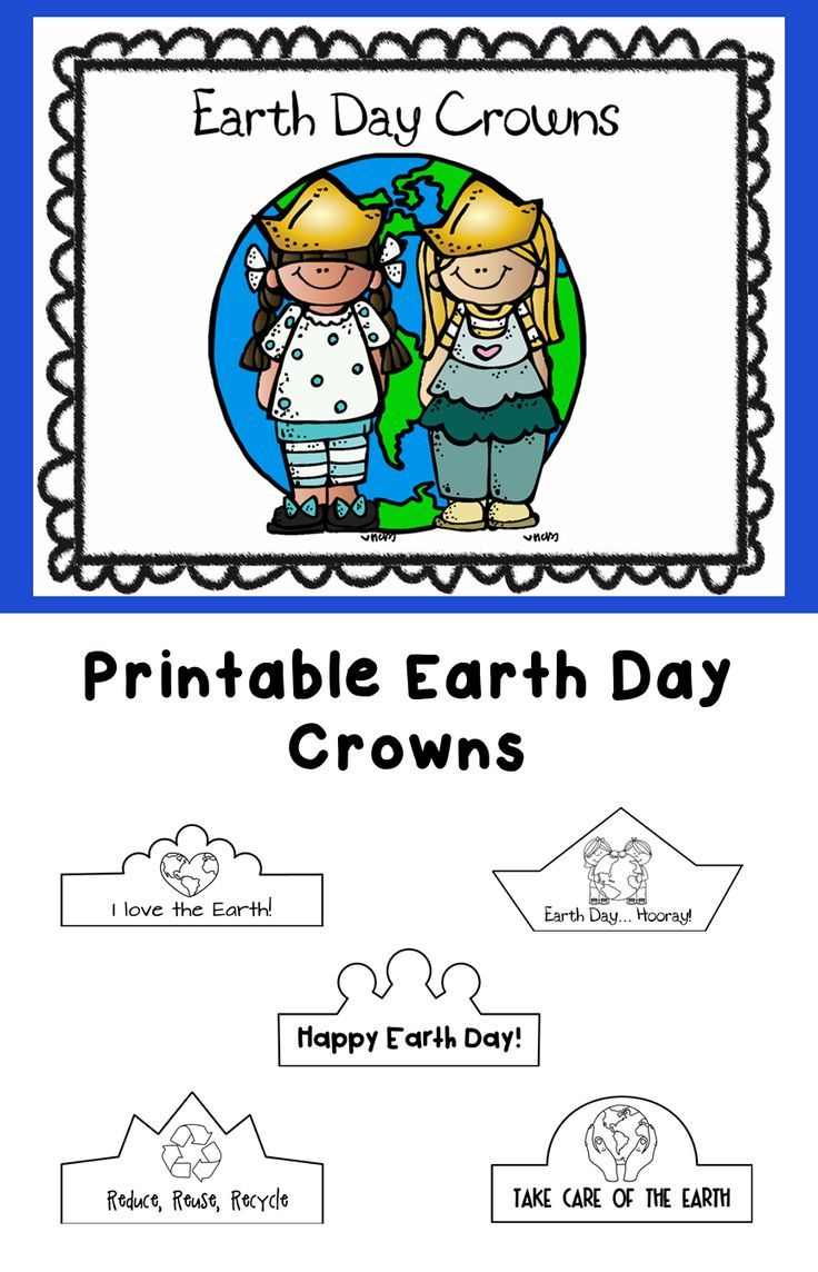 Earth Day Printable Crowns With Images Earth Day Earth Day