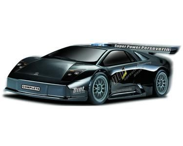 Gas Powered Lamborghini RC Car - Black. Bid or Buy Now from the QuiBids Store for $349.99 and receive 35 FREE Bids!