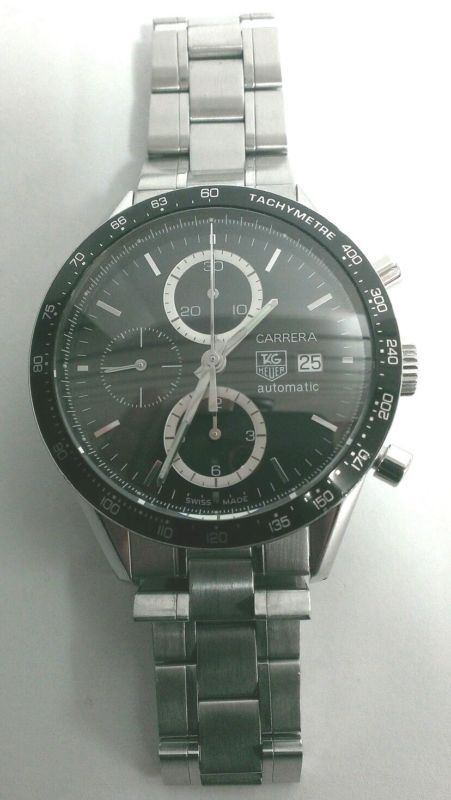 Tag Heuer Carrera Caliber 16 CV2010 Stainless Steel Men's Luxury Sports Watch !!