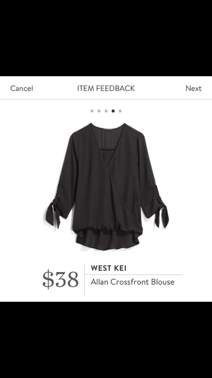 Love the styling of the blouse IF ONLY it was in a different color. I have tons of blues, blacks and whites....