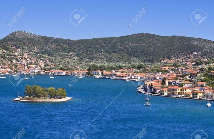 Vathi Bay At Ithaki Island In Greece, Picture And Royalty Free Image. Pic 15926297.