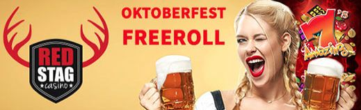 Grab a beer stein and drink to the $1K Oktoberfest #slot #freeroll tournament at Red Stag #Casino -