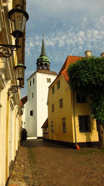 The church: Ærøskøbing Kirke in Ærø, Denmark