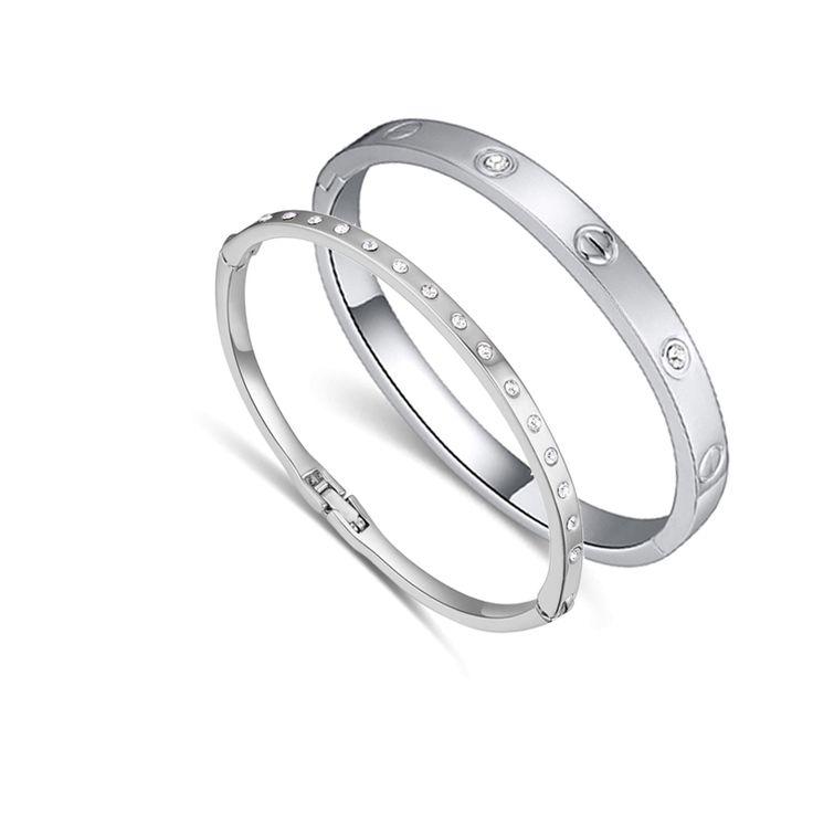 Браслеты для женщин кристалл ювелирные изделия белый позолоченный браслет для женщин браслеты для матери и бесплатной доставкой купить на AliExpress