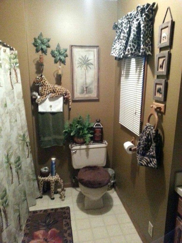 Animal Print Bathroom Decor, African Safari Bathroom Decor