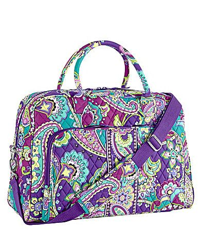 Love this Vera Bradley Weekender Bag. I could use a cool looking weekender  bag for weekend trips. 9e4e151d43b20