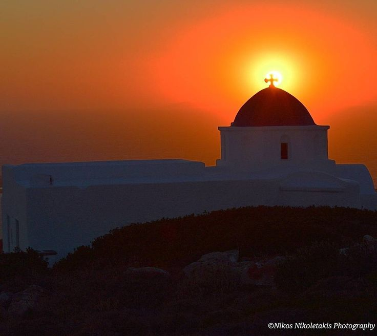 Profitis Ilias chapel in Paros island: One of the best places to enjoy the sunset with amazing view. Happy weekend!