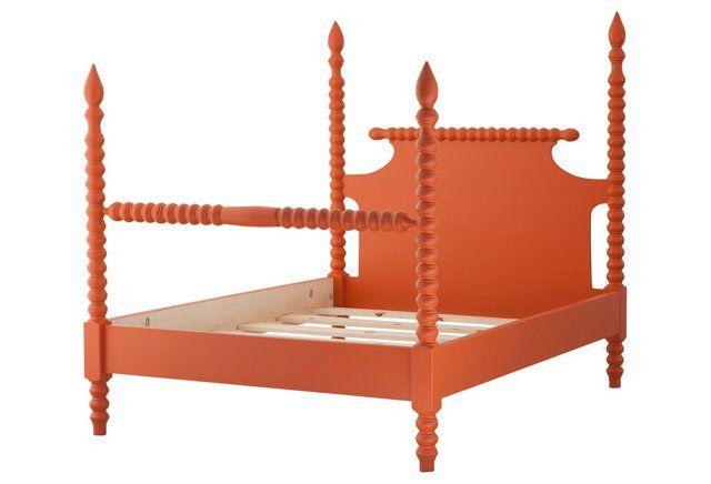 Gwendoline Spindle Bed, Orange