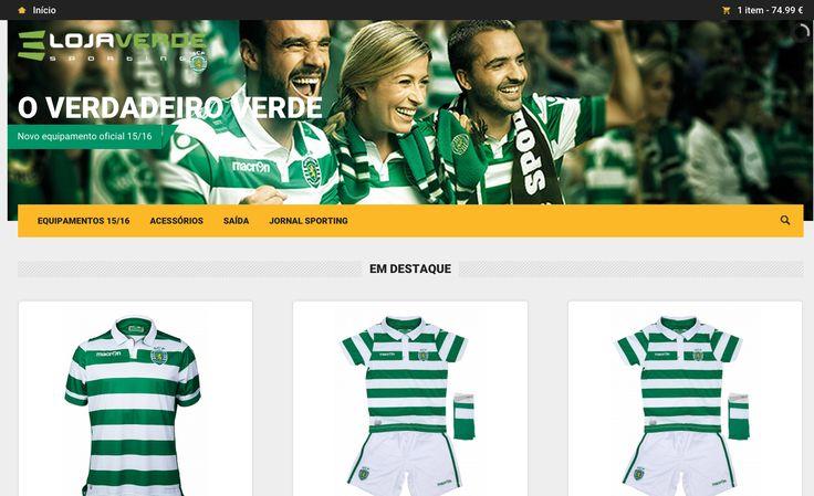 O Sporting Clube de Portugal, já abriu a sua Facestore! Aproveite para comprar o Equipamento Oficial da nova época 2015/2016 com desconto para sócios.