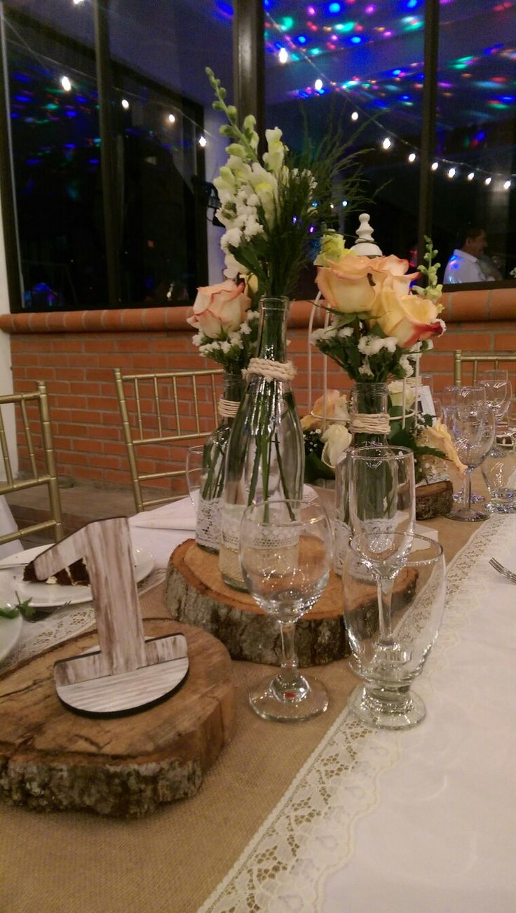 Center pieces... Vintage wedding