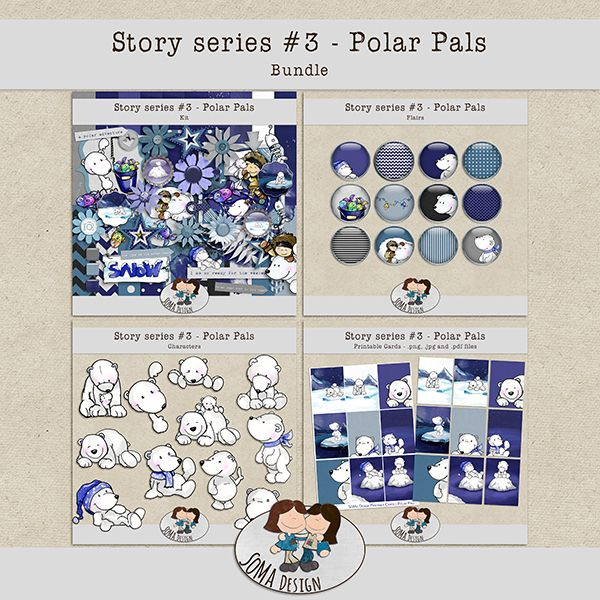 Polar Pals kit by SoMa Design. Available at Oscraps: http://www.oscraps.com/shop/Guest-SoMa-Designs/.