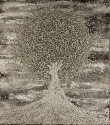 """Saatchi Art Artist Gian Luigi Delpin; Painting, """"centrifugal tree"""" #art"""