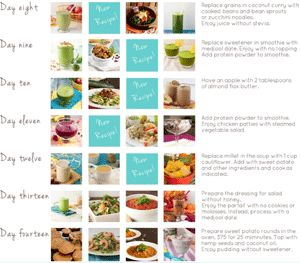 click on juices for 100 juice recipies under week one