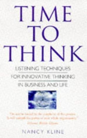 """""""Time to think : listening to ignite the human mind"""" The power of effective listening is recognized as the essential tool of good management. In this book, Kline describes how we can achieve this, and presents a step-by-step guide that can be used in any situation. Whether you want to have more productive meetings, solve business problems or build stronger relationships, this book offers you a new world of possibilities."""