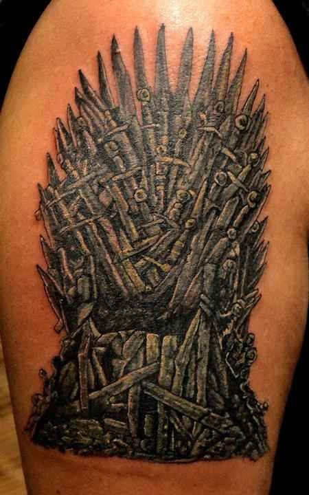 "The Iron Throne | 31 Incredible ""Game Of Thrones"" Tattoos"