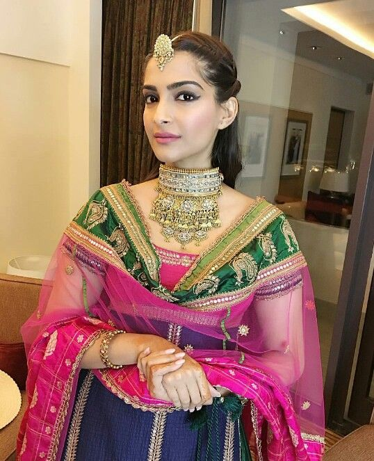 Sonam Kapoor wearing Anuradha Vakil at a friends wedding in oman.