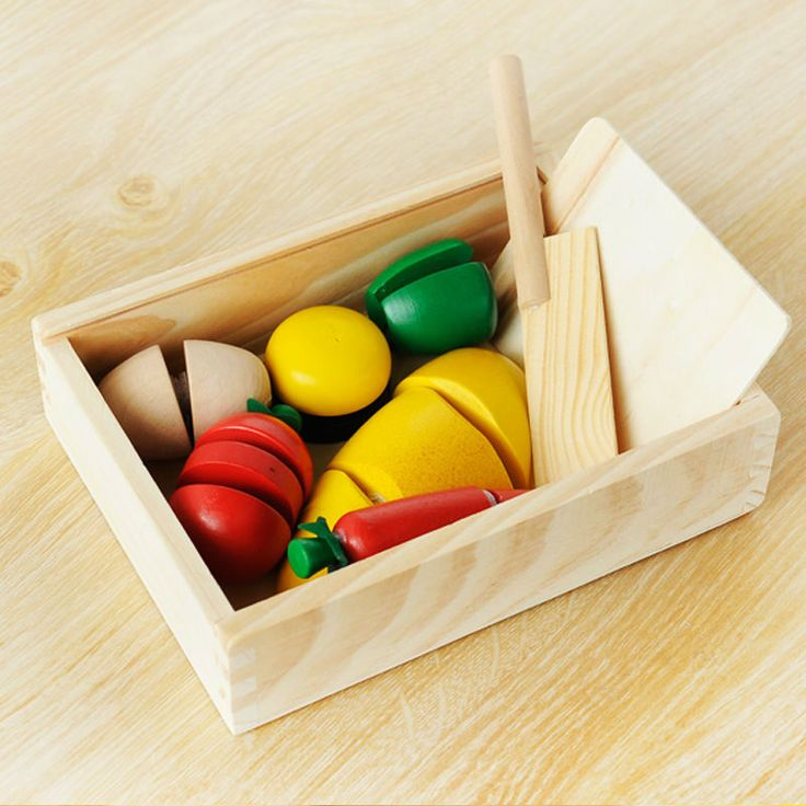 Освобожденный доставка, Деревянные игрушки, Деревянные фрукты после того , как игры, Дети играют игрушки, Зеленый перец плоды морковь и т . д .