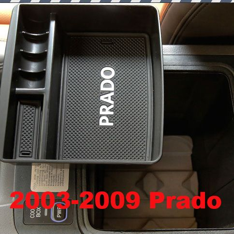 2010-2016 자동차 인테리어 미끄럼 맡길에 Tidying 상자 도요타 랜드 크루저 프라도 FJ 150 액세서리