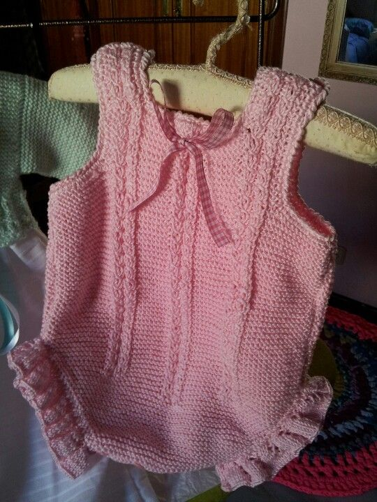 ~inspiration- lovely onesie with cables and ruffles~ ideal para verano