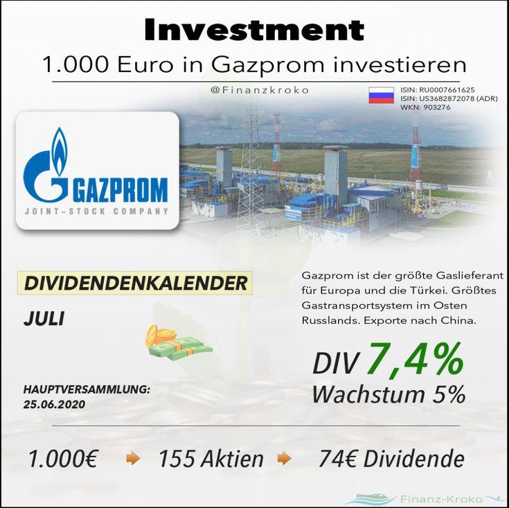 Gazprom Finanzen