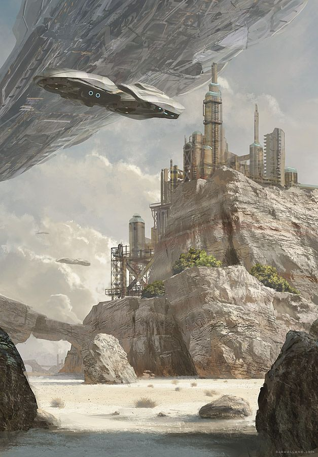 The Digital Sci-Fi Concept Art of Geoffroy Thoorens | Djahal Art