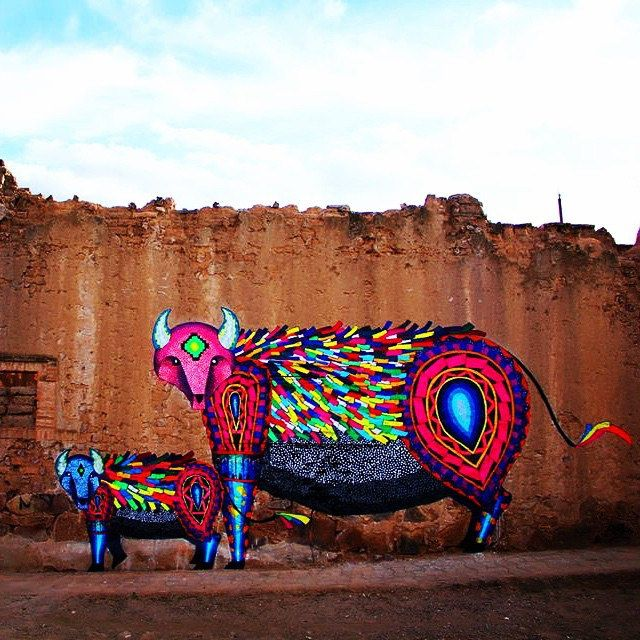 Magical wall creation by Mexican artist Spaik.