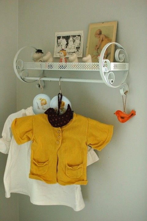 clothing rack  such a great idea next to the changing table