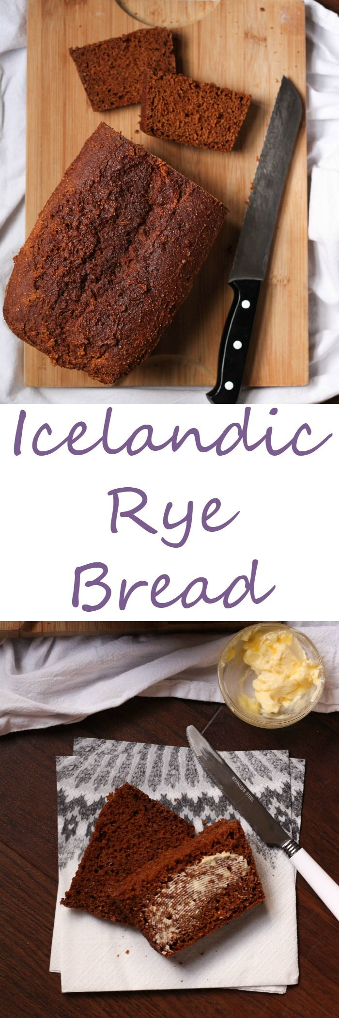 Icelandic rye bread is hearty, sweet, and delicious. Cooked slowly at a low temperature it's great to make on a lazy winter day inside.