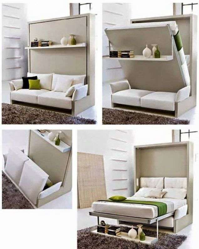 Clever pull down bed