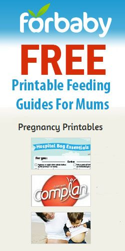 Free Printable Feeding Guides For Mums #charts #printable #foodguides