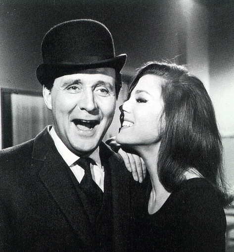 """The Avengers"", Patrick McNee as 'John Steed' and Diana Rigg as 'Emma Peel'"