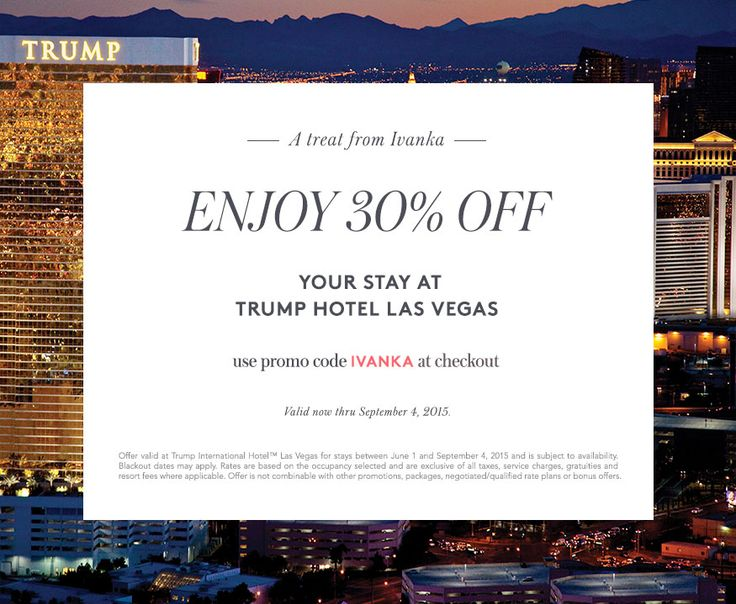 An exclusive promo code for Trump Hotel Las Vegas. Check out our website for more details. #lasvegas #vegas #travel
