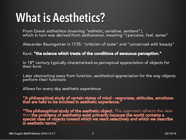 Image result for aesthetic meaning