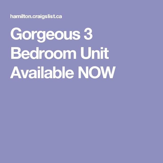 Gorgeous 3 Bedroom Unit Available NOW