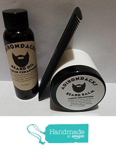 2oz Adirondacks Beard Oil + 2oz Balm + Comb- Natural Organic Cedarwood oil scent from Adirondacks Beard Oil https://www.amazon.com/dp/B01N06QGFD/ref=hnd_sw_r_pi_dp_HZ1iybF5D4KQ0 #handmadeatamazon