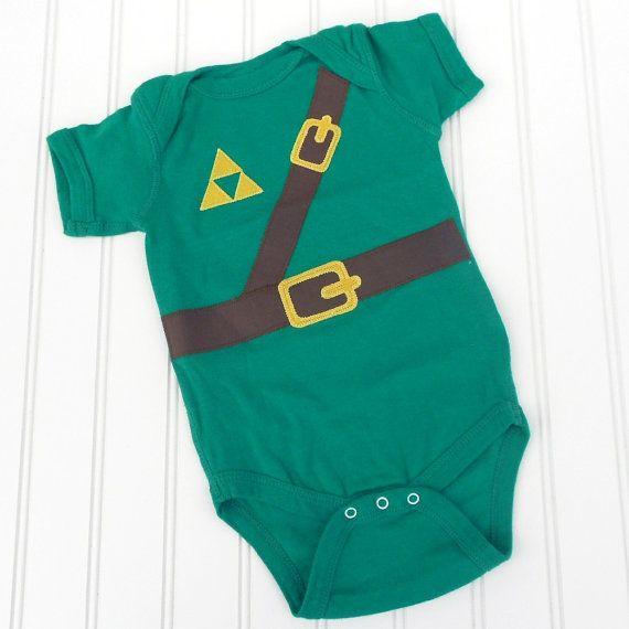 ahhh my child will have it. <3:  T-Shirt, Halloween Costumes, Legends Of Zelda,  Tees Shirts, Jersey, Link Onesie, Future Kids, Baby Shower Gifts, Legend Of Zelda