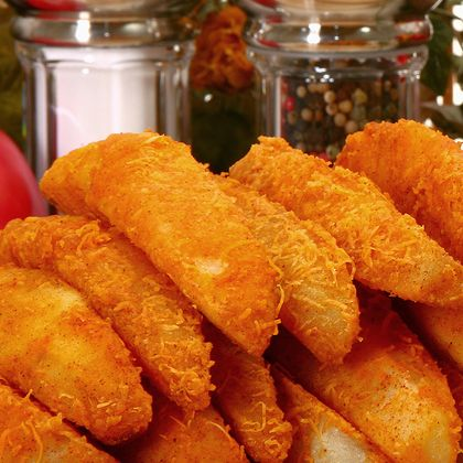 These crispy potato wedges will leave them asking for more!. Panko Crispy Potato Wedges Recipe from Grandmothers Kitchen.
