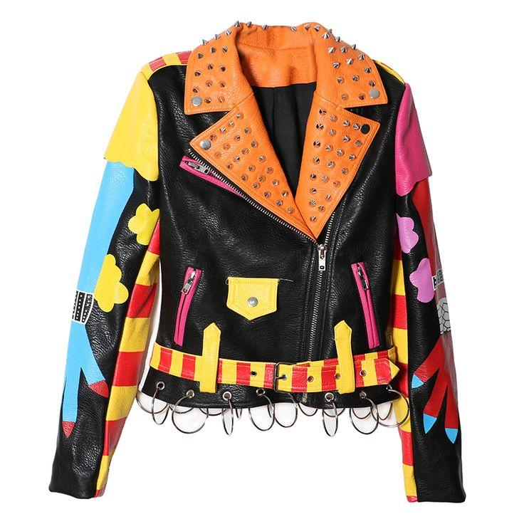 Кожаный рок куртки мужские