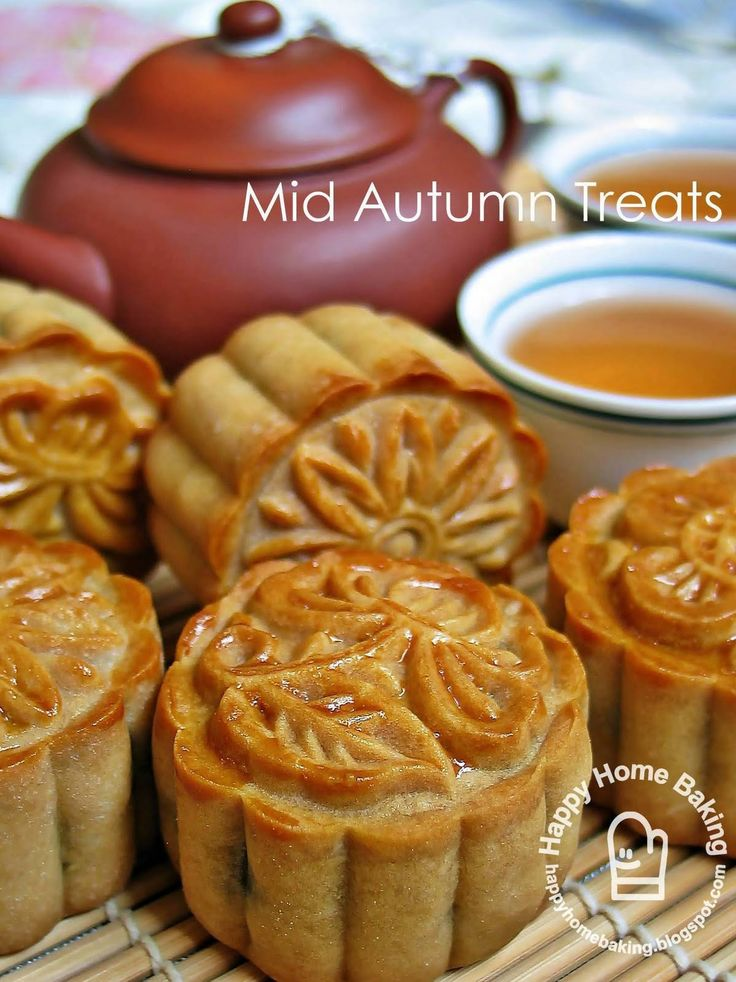 Mooncakes....never had them but these look pretty adorable to me.