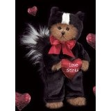 """-  Love Stinks Bearington Bear 10"""" Dressed Teddy Bear in Skunk Costume Valentines Day Stuffed Animal Gift By Bearington Collection (Toy)  #valentineday www.giftsforbelovedones.com"""