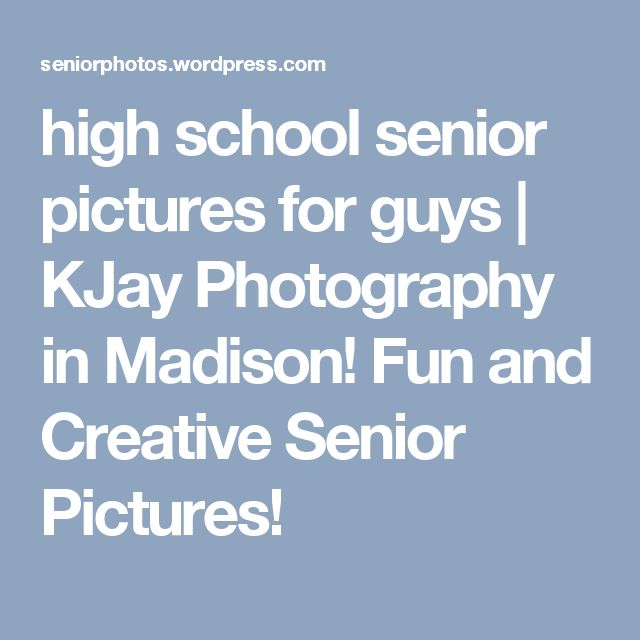 high school senior pictures for guys | KJay Photography in Madison!  Fun and Creative Senior Pictures!