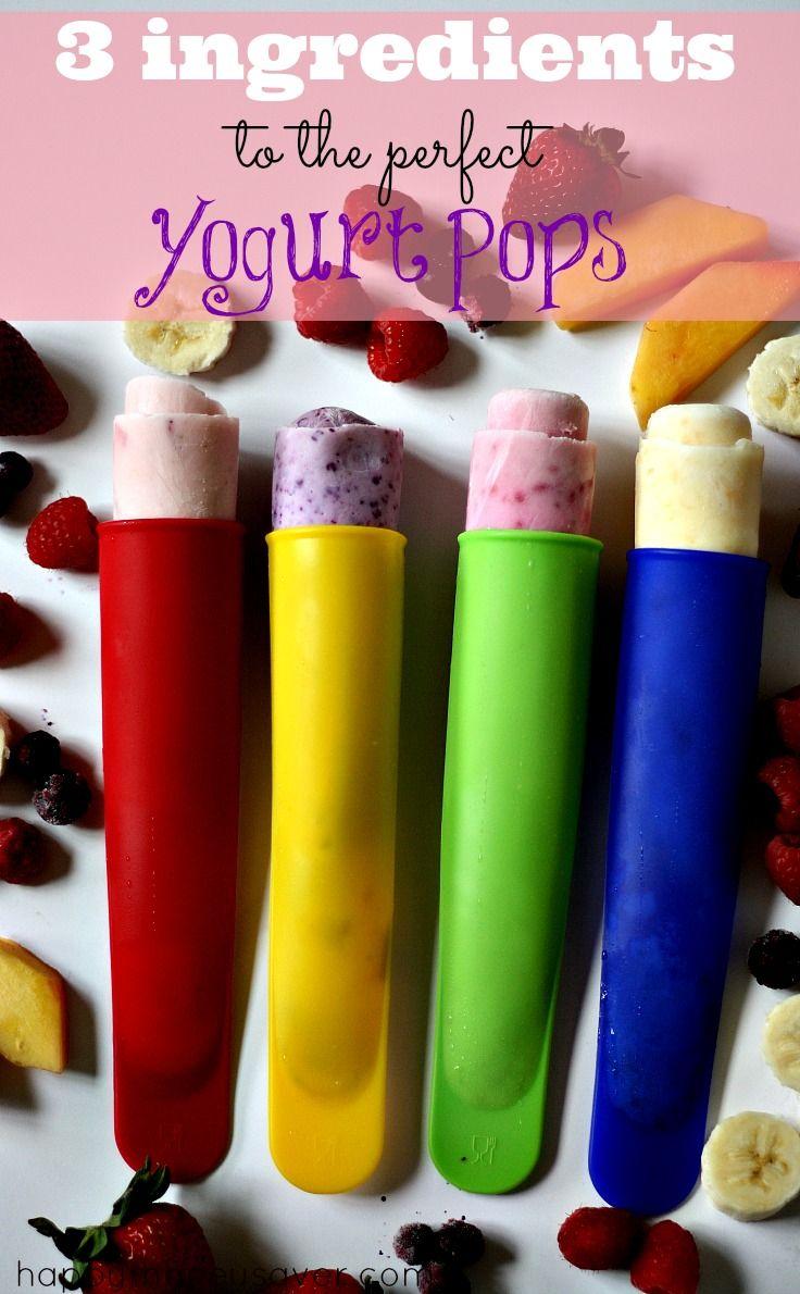 These easy frozen yogurt pops are the perfect summer treat! #summer #yogurtpops #frozentreats