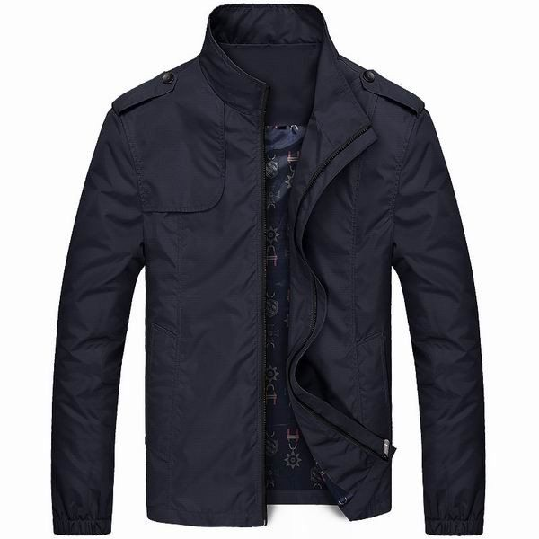 Mens Spring Lightweight Water-repellent Windproof Stand Collar Casual Jacket…