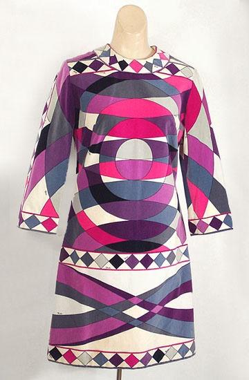 Emilio Pucci velvet dress, c.1965, from the Vintage Textile archives.