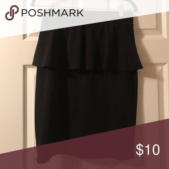 Black peplum skirt Black peplum skirt. Only worn once; still in new condition Mossimo Supply Co. Skirts