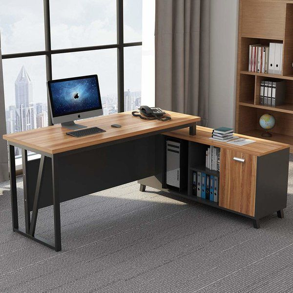 Coe L Shape Executive Desk Salones Femeninos Sala De Estudio Muebles